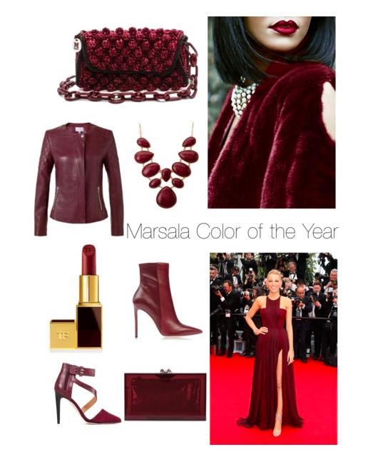 Marsala Inspiration - Collage by Lorellay
