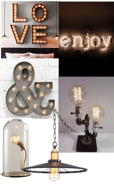 Trendy wall lights and bulbs in 2015