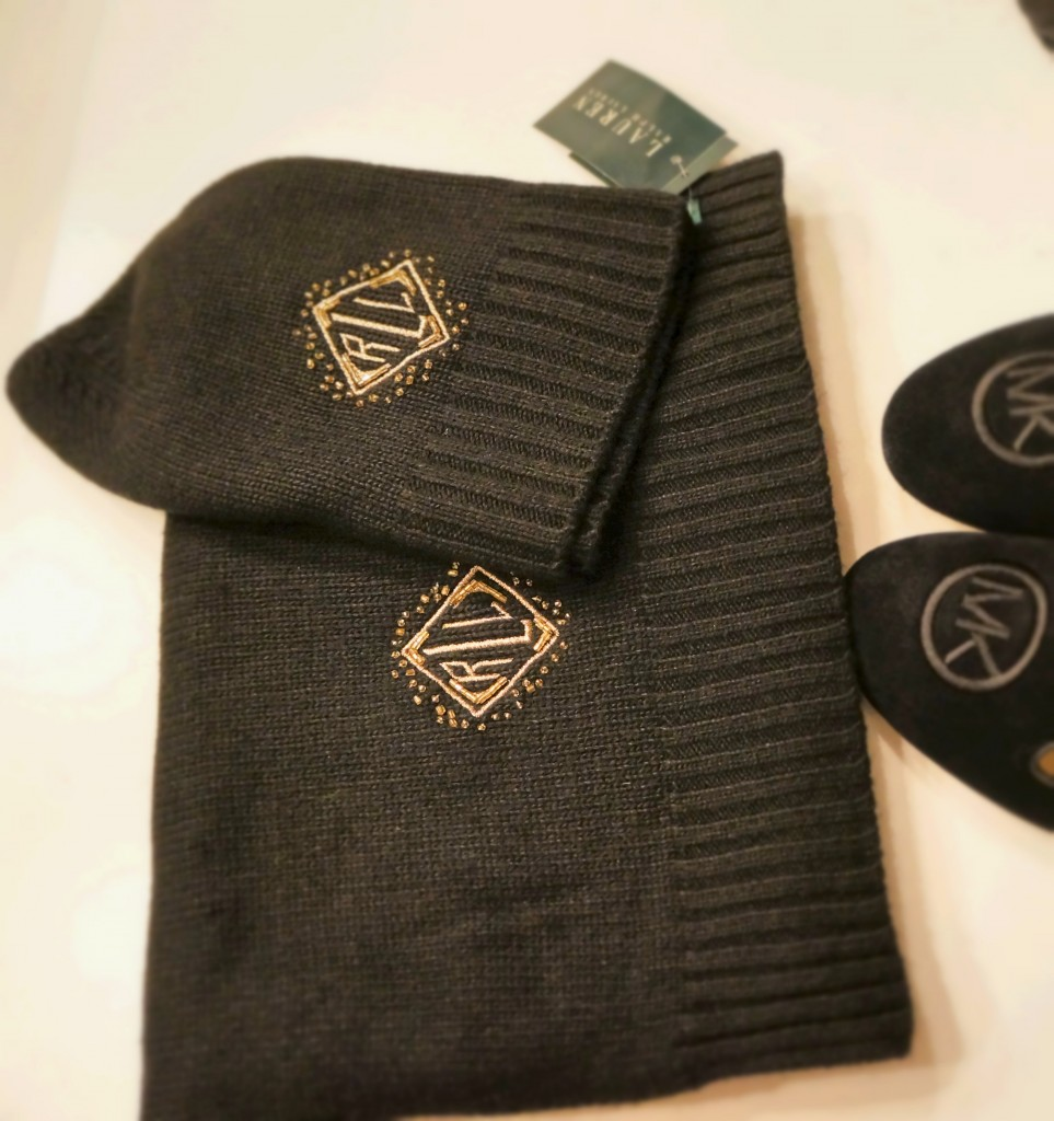 Wool beanie and scarf from Ralph Lauren