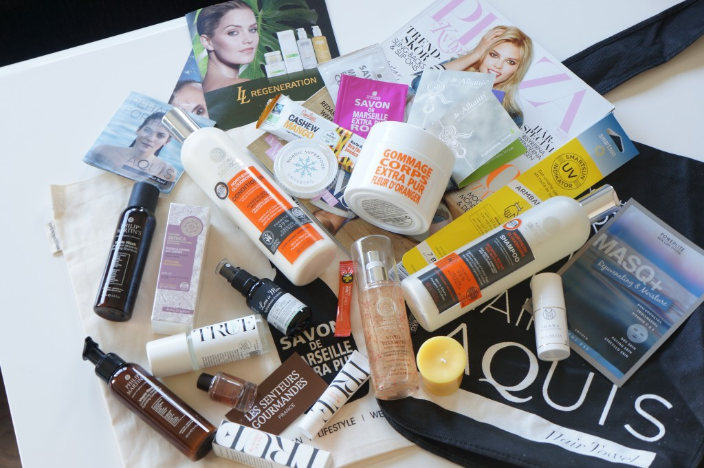 stockholm beauty week goodiebag with products
