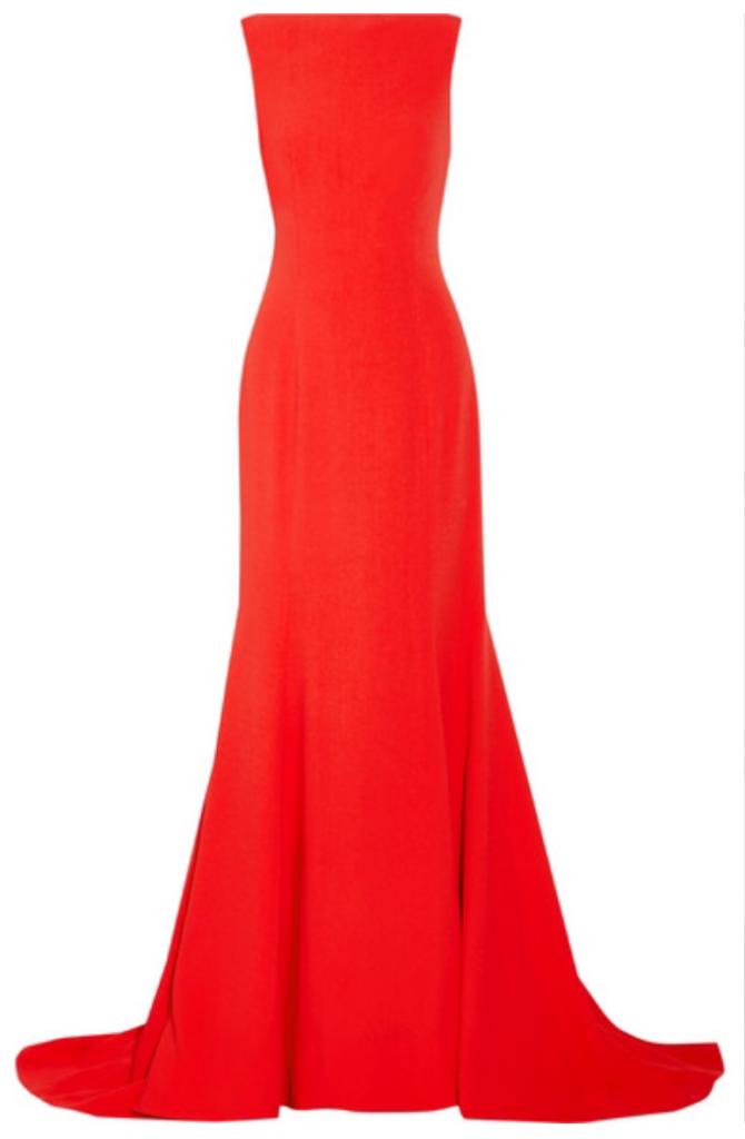 party dresses oscar de la renta red gown