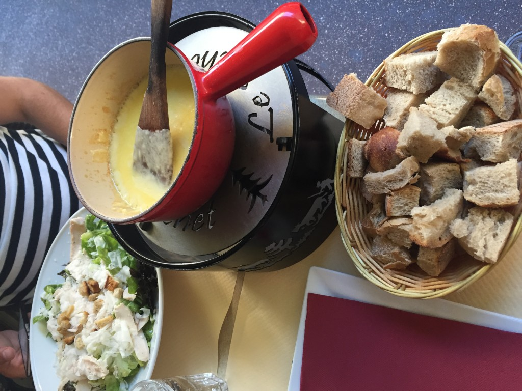 Cheese fondue in Le Picket restaurant annecy