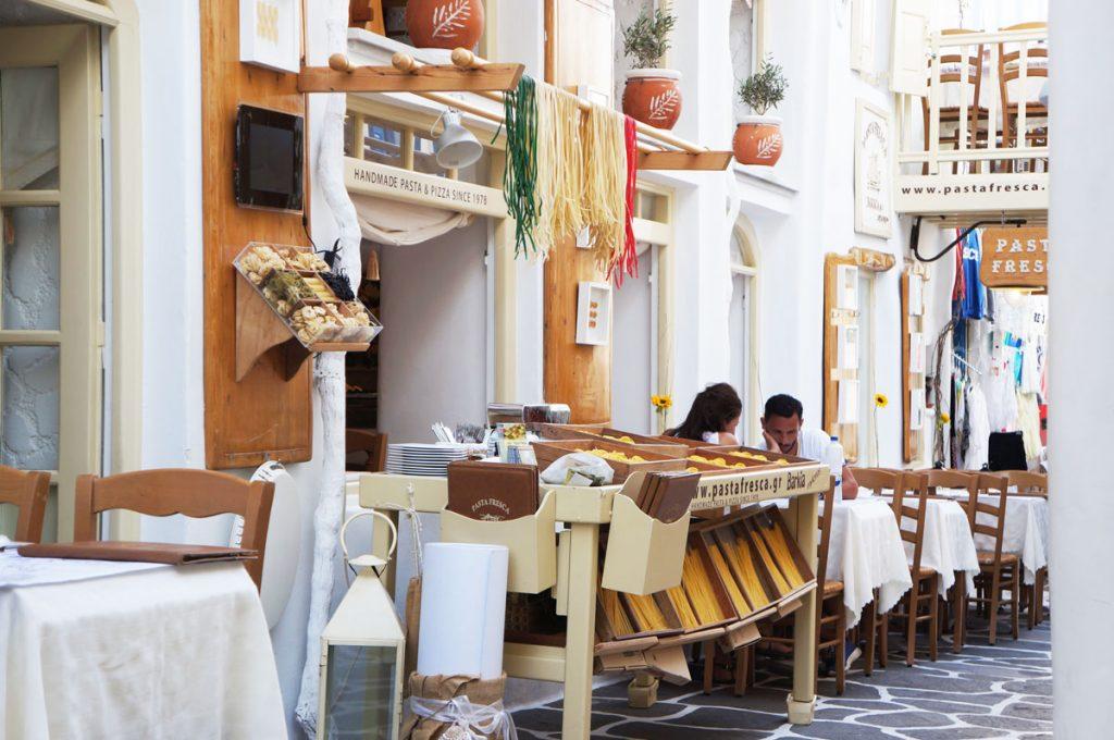 Where to Eat in Mykonos Pasta Fresca Barkia Mykonos