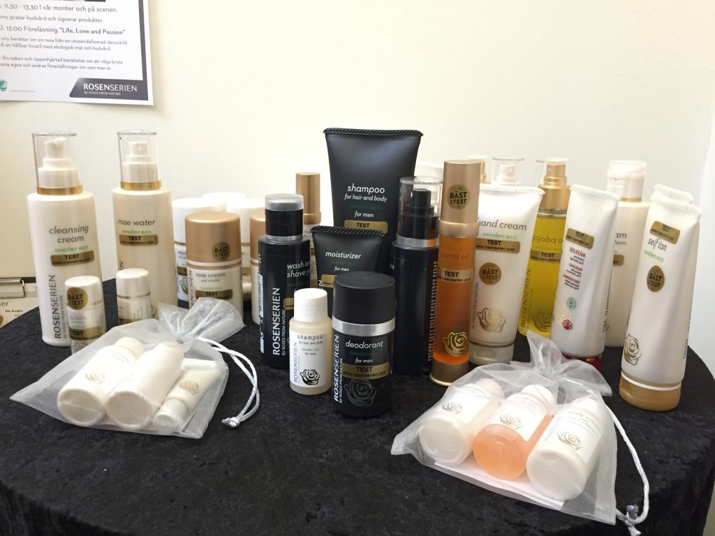 stockholm beauty week, rosenserien brand carrot oil and other amazing products