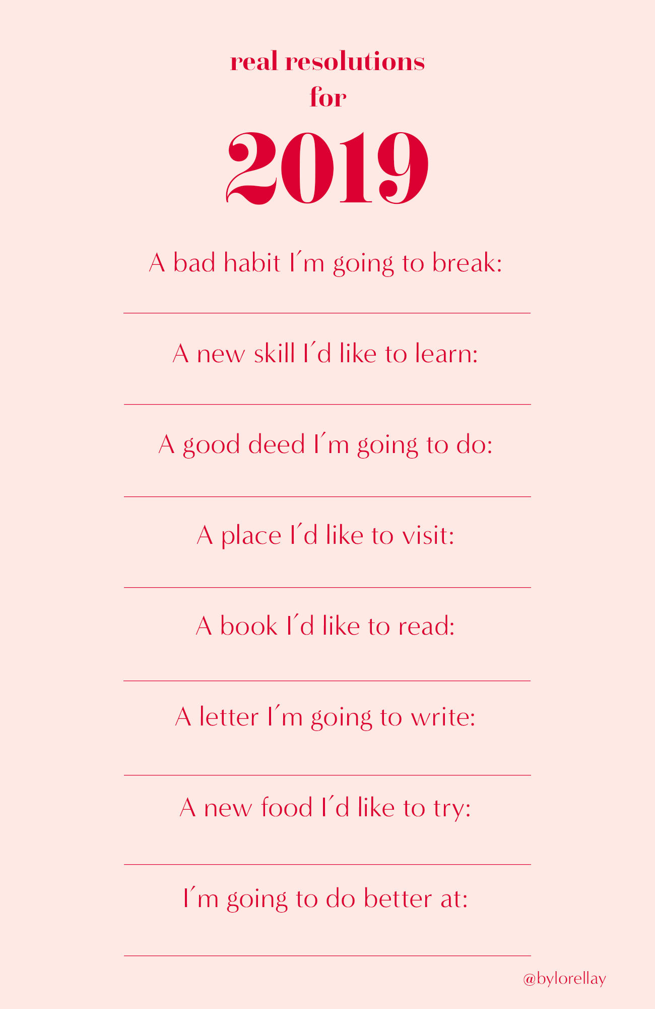 instagram story template for new year resolutions